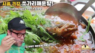 괴산의 50년 노포 맛집에서 쏘가리매운탕 외국인먹방! …