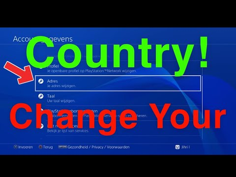 PS4 How To Change Your Country!