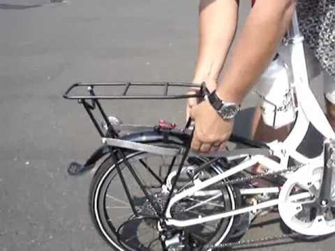 Tikit Rear Folding Rack For Full Size Panniers Youtube