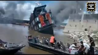 Cruise ship explodes and sinks in the Amazon