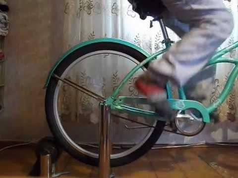 Как сделать из велосипеда велотренажер своими руками 97