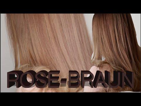 Rose Braune Haare Multi Dimensionale Haarfarben Youtube