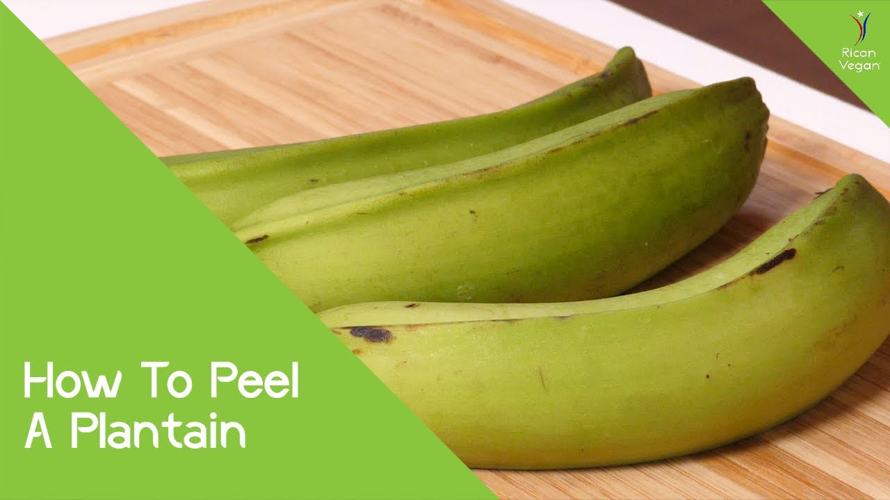 How To Peel A Plantain | Rican Vegan