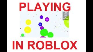 PLAYING AGAR. IO IN ROBLOX, AGAIN!