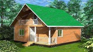 Проект дома 2 этажа 6 на 6