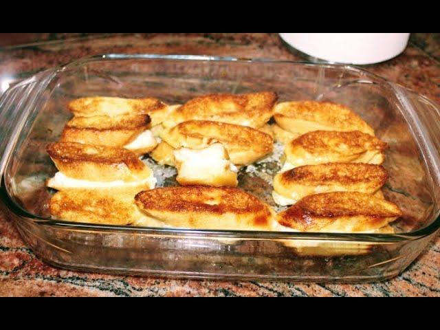 Лесна и топла закуска на фурна, вкусни филийки без пържене