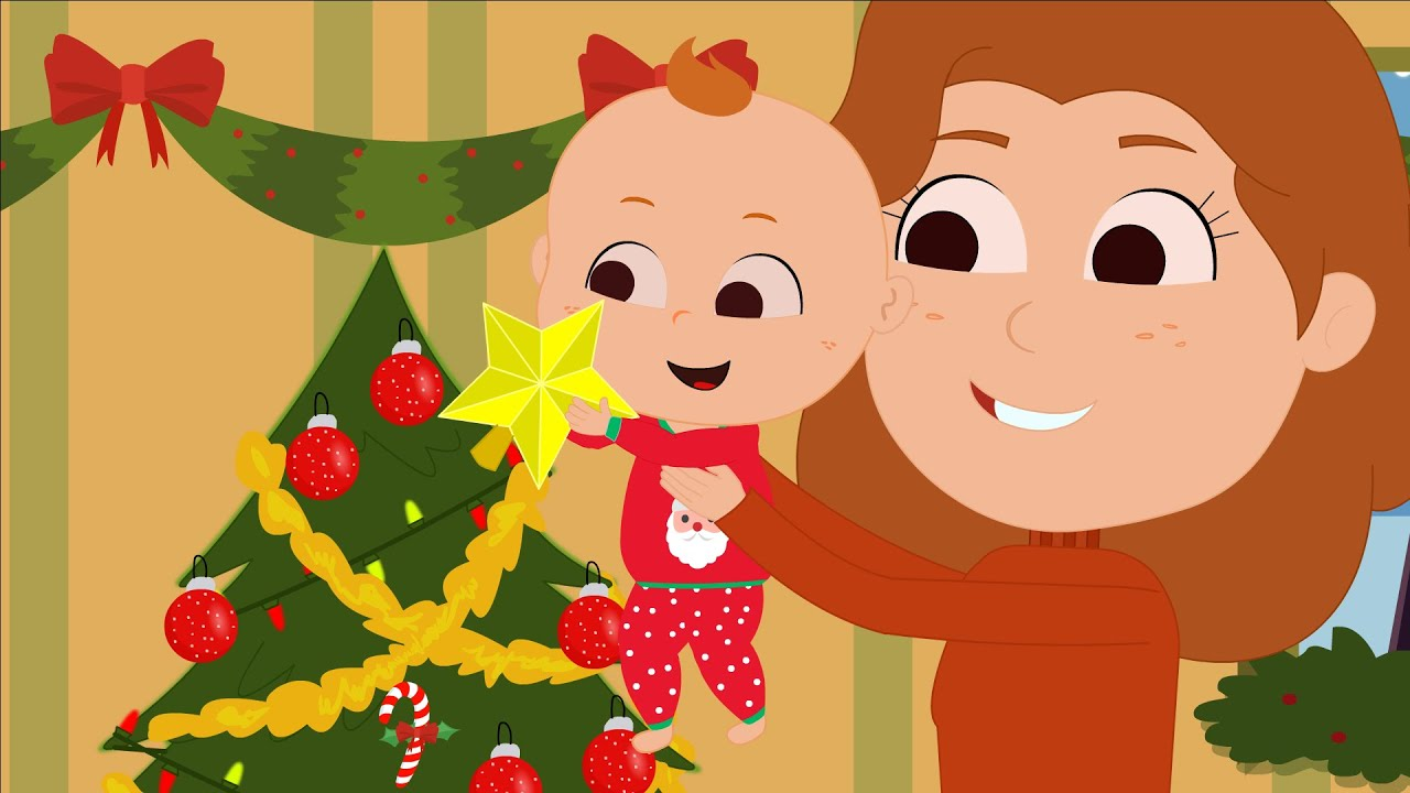 This Is The Way We Decorate The Christmas Tree | Christmas Song for Kids | Super Toddler