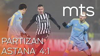 FK Partizan Astana 4:1 UEFA Evropa liga, 6. kolo, grupa L, sezona 2019/20