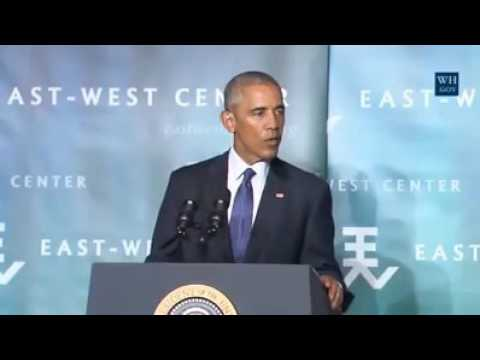 President Obama full speech on Climate Change in Hawaii 9/1/16