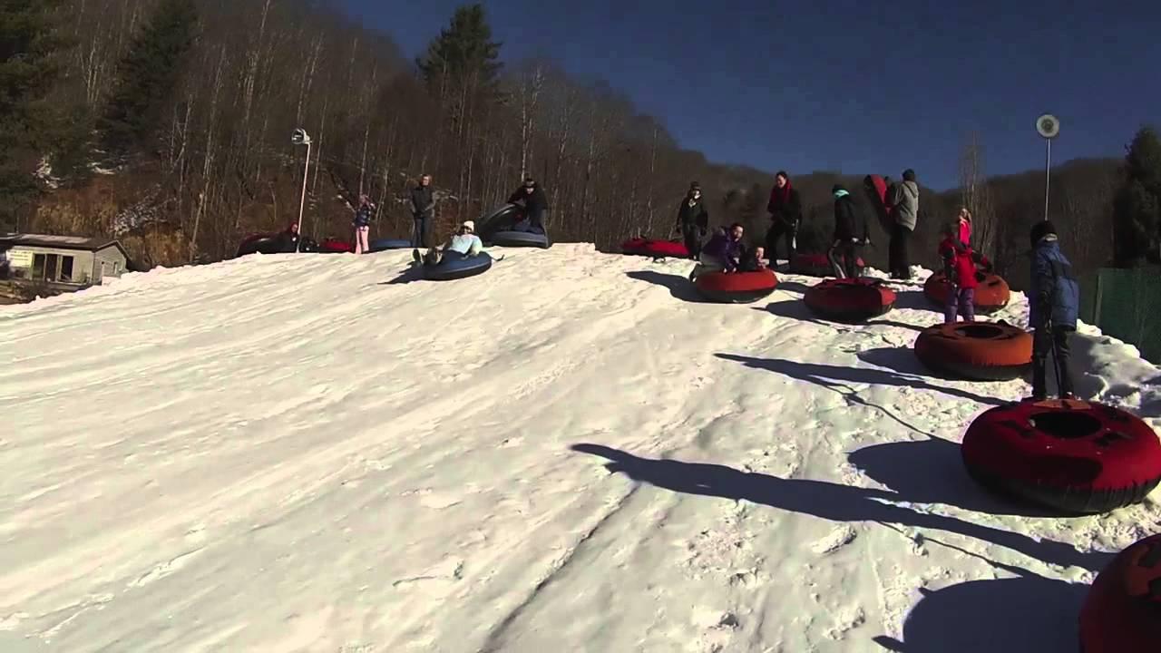 wolf ridge snow tubing january 2014 - youtube