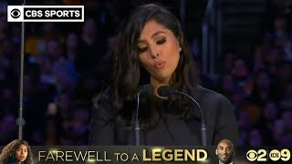 Download Vanessa Bryant shares powerful, emotional words at Kobe and Gianna Bryant Memorial | CBS Sports HQ Mp3 and Videos