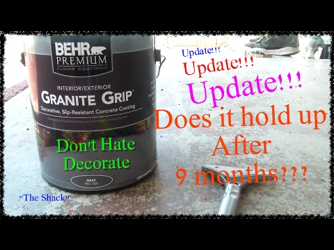 UPDATE!! How to paint a patio with Behr Granite Grip floor covering