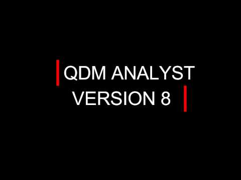 QDM ANALYST Version 8 - Create Management and SPC Reports in Seconds