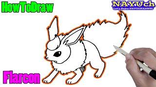 How To Draw Pokemon Flareon ブースターの書き方 ポケモンの描き方