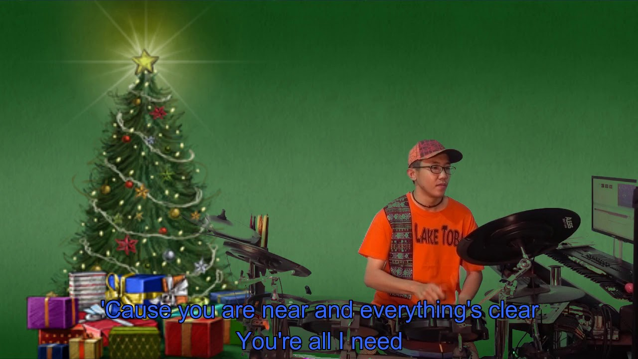 Kelly Clarkson - Underneath The Tree (Karaoke Drum Cover by Timothy Liem) (with lyrics) - YouTube