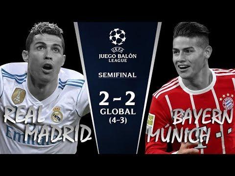 REAL MADRID vs BAYERN MÚNICH   Semifinales Champions League 2018   Narrando/comentando