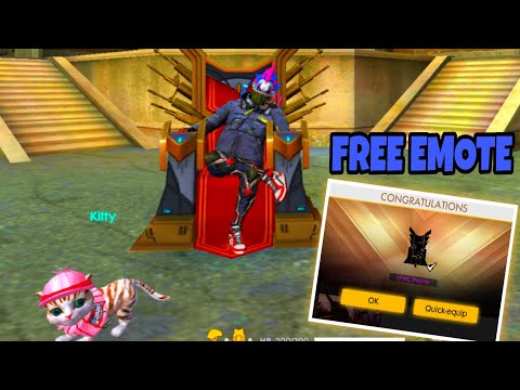 Free Emote How To Get Ffwc Throne Emote For Free In Free Fire Battleground For All Players Youtube