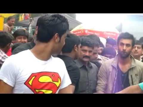 ranbir kapoor and chetan at subhash nagar