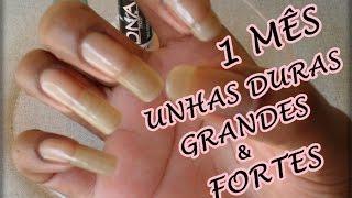 Endurecedor Caseiro Inédito Para Unhas 💅 Unhas Grandes e Fortes ♥Long Nails Faster! 💅