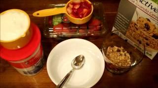 Vanilla Granola With Strawberries