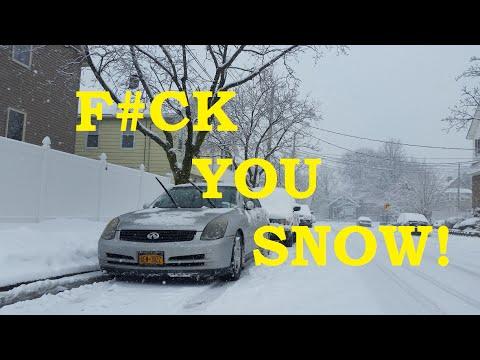 Driving a Rear Wheel Drive RWD car on SnowWinter  YouTube
