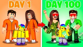 Roblox 100 Days with CRIMINAL FAMILY Life.. 🤐💰