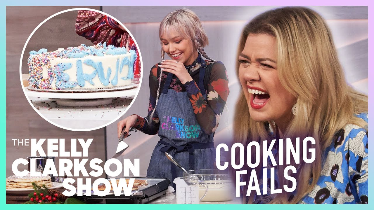 Kelly Clarkson's Funniest Cooking Fails