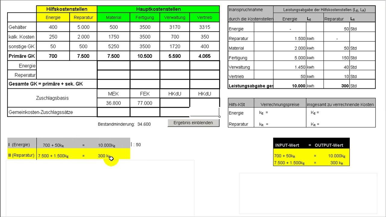 Bab Rechnung : teil iii kostenrechnung zuschlagskalkulation bab ~ Themetempest.com Abrechnung