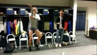 Gangnam style dance - North Park University soccer style