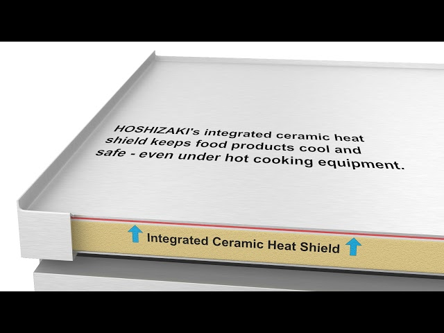 Integrated Ceramic Heat Shield Cutaway - Refrigerated Equipment Stand