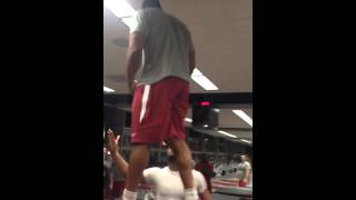 Trey Flowers Box Jump