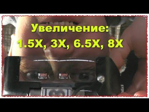 Линза Лупа Увеличение: 1.5X, 3X, 6.5X, 8X хобби, искусство, ювелирный дизайн, чтение, осмотр