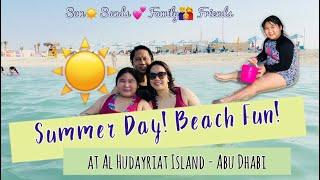 Summer Beach Fun Day with Ishy at Al Hudayriat Island