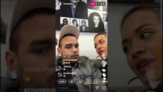Liam Payne and Rita Ora on Instagram Live Chat 31.01.2018