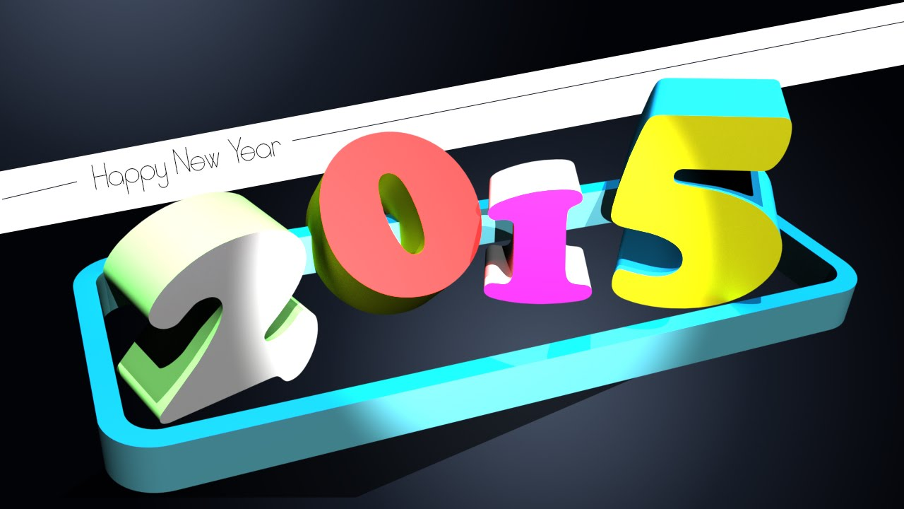 Photoshop tutorial 3d text effect 2015 happy new year youtube baditri Image collections