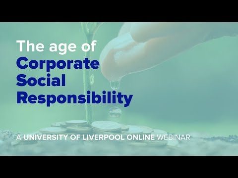 Webinar: The age of Corporate Social Responsibility