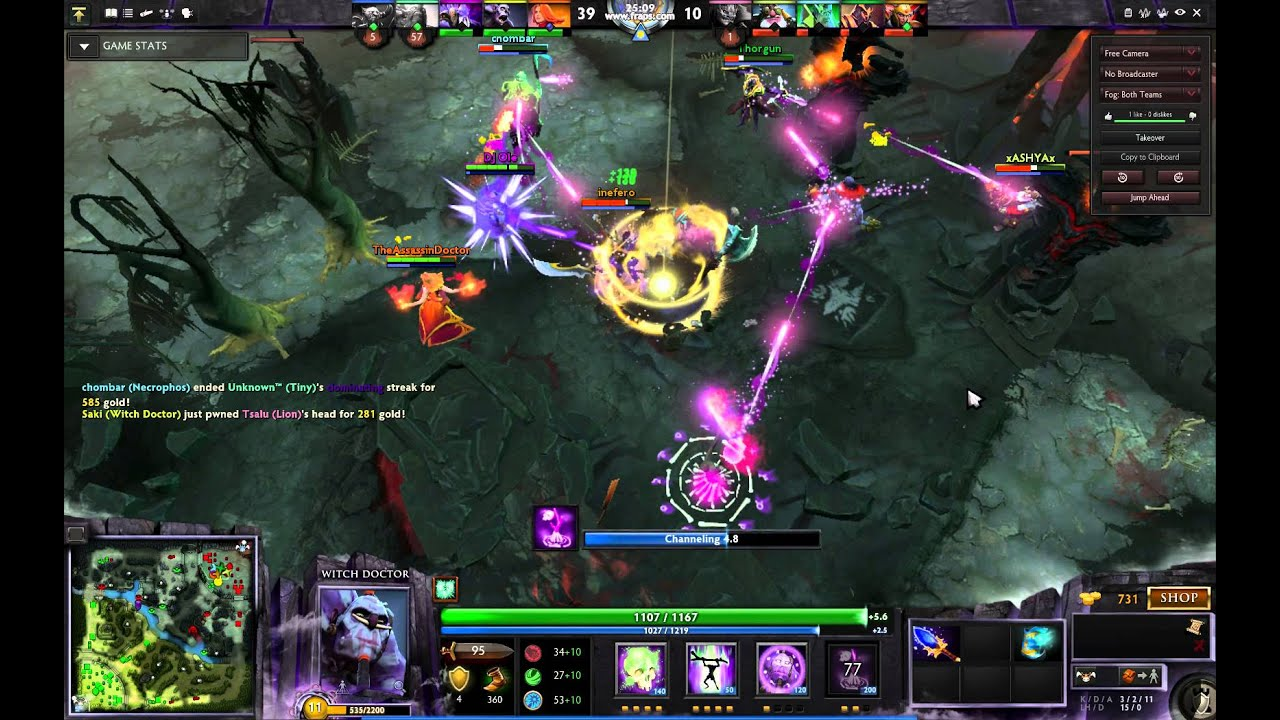 dota 2 witch doctor rampage with ulti youtube