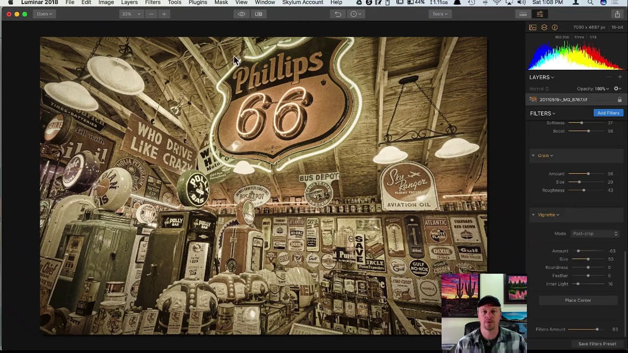 Vintage Americana With New Filters In Luminar 2018