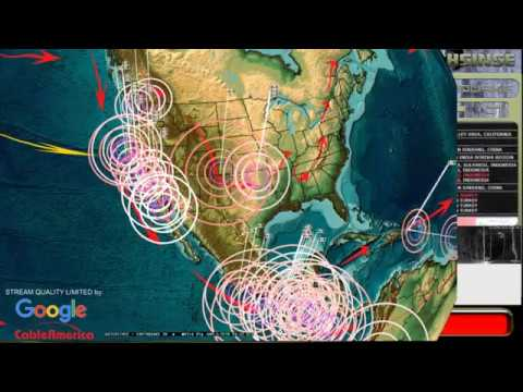 12/31/2017 -- California Earthquakes progressing across coast -- Plate moving -- Unrest building