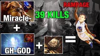 NICE COMBO - Miracle- SHAKER 39 KILLS + GH-GOD Io With Tarrasque 30 mins Pub Match