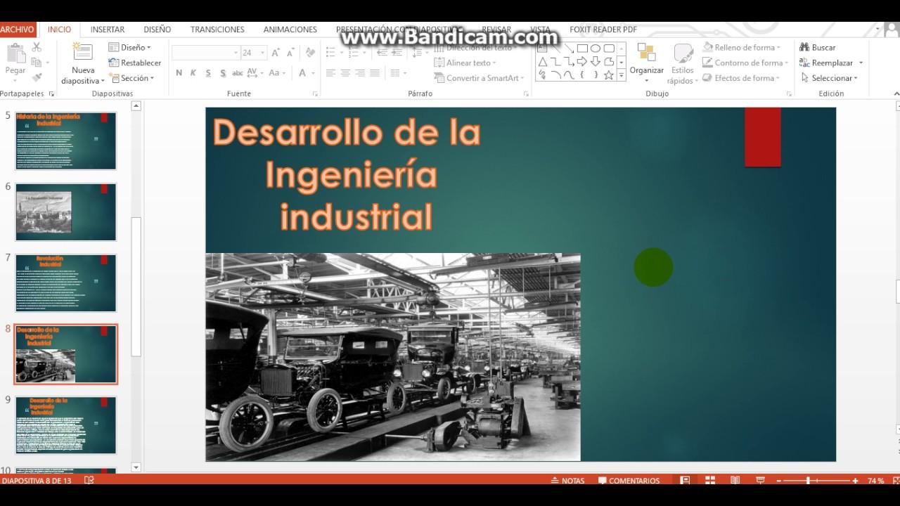 Historia desarrollo y estado actual de la Ingeniera Industrial