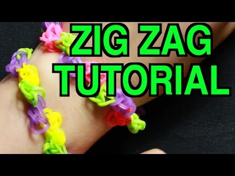 RAINBOW LOOM ZIG ZAG BRACELET - HOW TO MAKE A ZIGZAG RAINBOW ...
