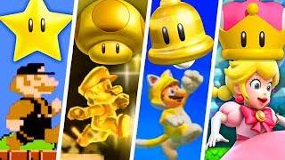 Evolution of Super Mario Gold Power-Ups (1985 - 2019)