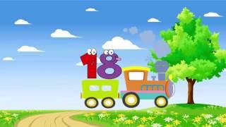 Dạy bé học số đếm tiếng việt từ 0 đến 20 - em tập đếm với đoàn tàu vui nhộn - Dạy trẻ thông minh sớm