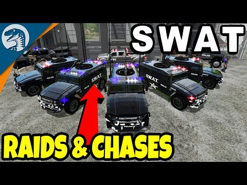 SWAT RAIDS, ASSAULT TEAMS, HIGH SPEED CHASES | Farming Simulator 17 Multiplayer Gameplay