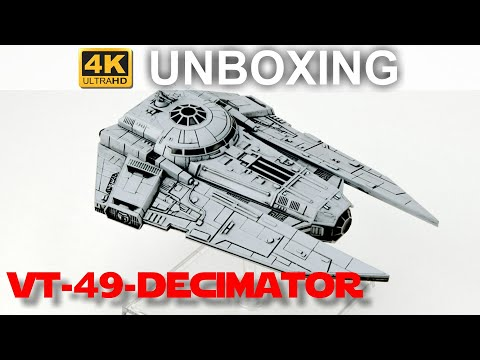Star Wars X-Wing 2. Edition: VT-49-Decimator - WELLE 4 - Unboxing (4K)