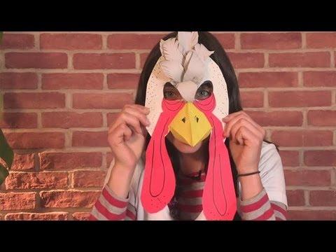 How To Make A Turkey Mask & How To Make A Turkey Mask - YouTube