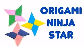 Easiest Way To Make Paper Ninja Star (Shuriken) - How-To Easy Origami Tutorial