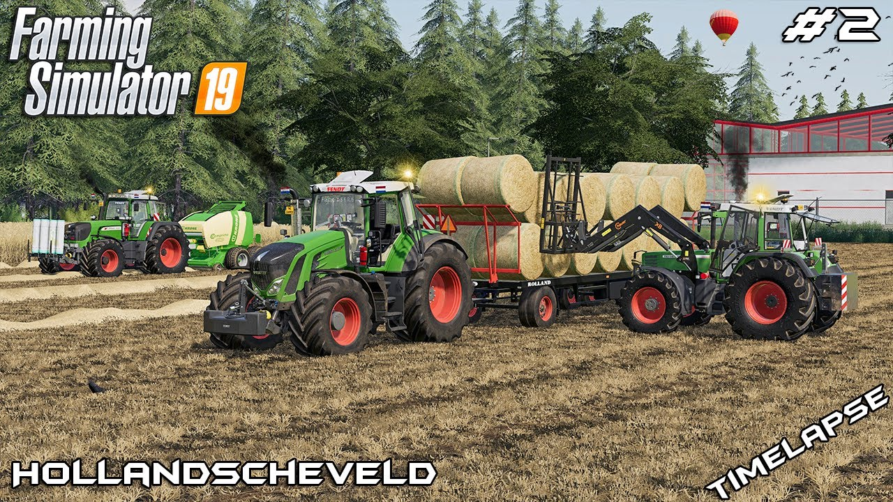 Baling 71 STRAW bales with FENDTs 🇳🇱 | Animals on Hollandscheveld | Farming Simulator 19 | Episode 2