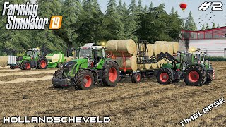Baling 71 STRAW bales with FENDTs 🇳🇱   Animals on Hollandscheveld   Farming Simulator 19